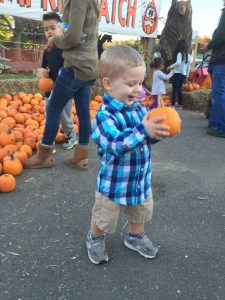 2016 Runner-Up: Pure Joy. He Found the Perfect Pumpkin